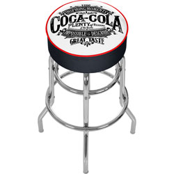 Coca Cola Brazil 1886 Vintage Pub Stool