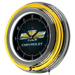 Chevy 14 Inch Neon Clock