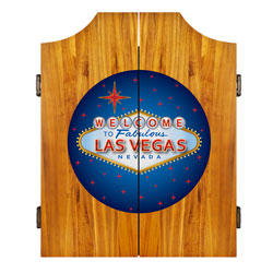 Las Vegas Dart Cabinet includes Darts and Board