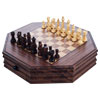 Trademark Games� Octagonal Chess and Checkers Set
