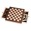 Elegant Inlaid Wood Chess Cabinet