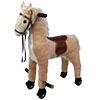 HAPPY TRAILS Plush Walking Horse with Wheels and Foot Rest