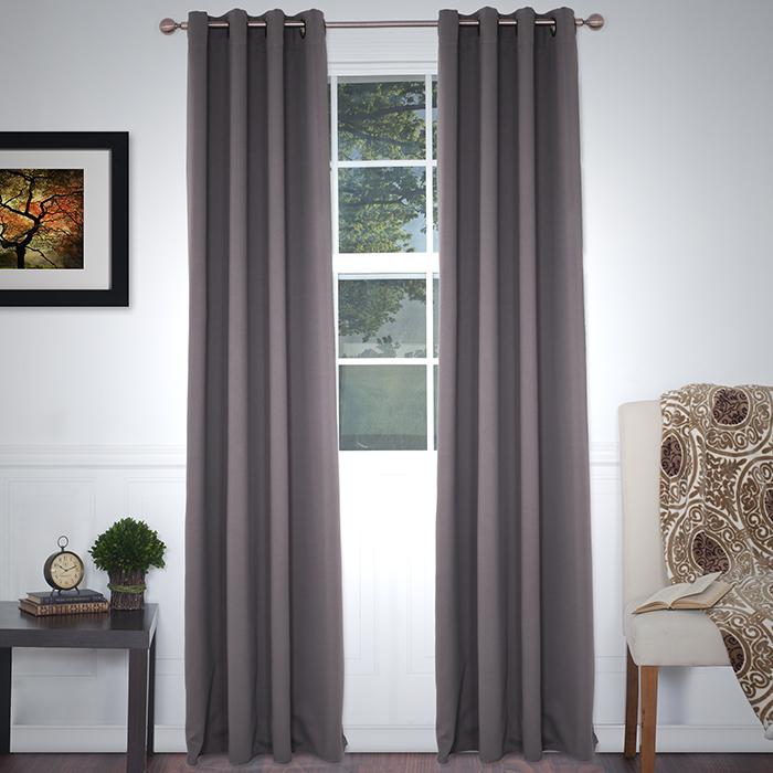 Lavish Home Blackout Grommet Curtain Panel 84 Inch