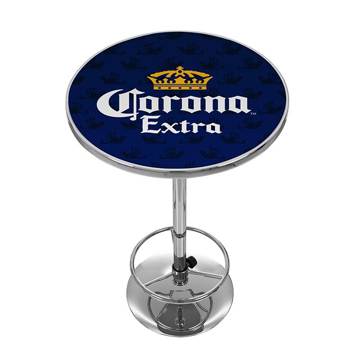 corona chrome pub table