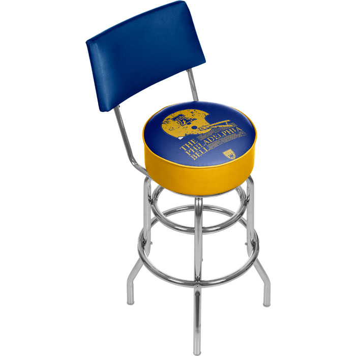 vaf bell padded swivel bar stool with back