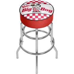 Bobs Big Boy Checkered Padded Swivel Bar Stool