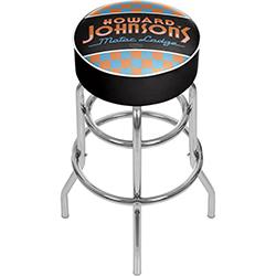Howard Johnson Checkered Padded Swivel Bar Stool