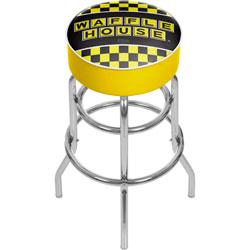 Waffle House Checkered Padded Swivel Bar Stool