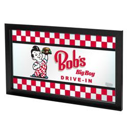 Bobs Big Boy Checkered Framed Logo Mirror