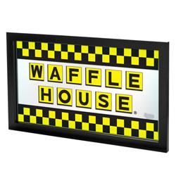 Waffle House Large Checkered Framed Logo Mirror