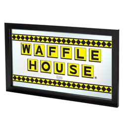 Waffle House Officially Checkered Framed Logo Mirror