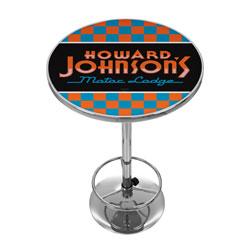 Howard Johnson Checkered Chrome Pub Table