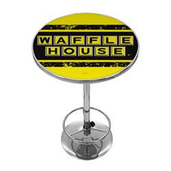 Waffle House Vintage Chrome Pub Table