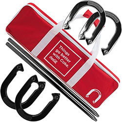 Coca Cola Horseshoe Set with Carry Case