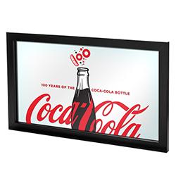 Coca-Cola Framed Mirror - 100th Anniversary of the Coca-Cola Bottle