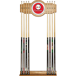 Corvette C1 2 piece Wood and Mirror Wall Cue Rack - Red