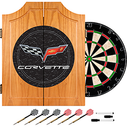 Corvette Model C6 Dart Cabinet with board and darts