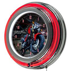 Honda Grom Chrome Double Ring Neon Clock