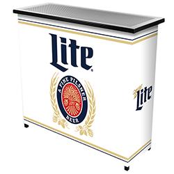 Miller Lite Portable Bar with Case - Retro Design