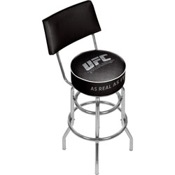 UFC Padded Swivel Bar Stool with Back