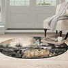 Lavish Home Opus Artfully Abstract Area Rug - Grey - 5' Round