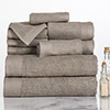 Lavish Home Ribbed Egyptian Cotton 10 Piece Towel Set - Taupe