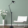 Lavish Home 6 Foot LED Adjustable Floor Lamp - Black