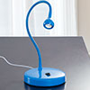 Lavish Home LED Goose Neck Desk Lamp - Blue