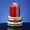 Holiday Treasures Musical Jar Candle Holder Music Box