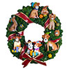 Holiday Dogs Musical Wreath by San Francisco Music Box Factory