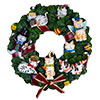 Holiday Cats Musical Wreath by San Francisco Music Box Factory