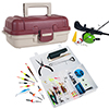 Gone Fishing Two Layer Tackle Box w/Lure Set,Kid's Spincast Combo
