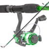 South Bend Worm Gear Fishing Rod & Spinning Reel (Green Combo)