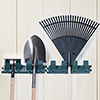 Stalwart Garden Tool Hangers - Set of Two - Holds up to 16 Tools