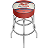 Pure Oil Chrome Bar Stool with Swivel - Vintage