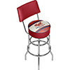 Pure Oil Swivel Bar Stool with Back - Vintage