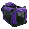 PETMAKER Portable Soft Sided Pet Crate-20 x 12 inches-Purple