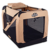 PETMAKER Portable Soft Sided Pet Crate-42 x 28 inches-Khaki