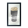 Guinness Framed Mirror Wall Plaque 15 x 26 Inches - Line Art Pint