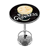 Guinness Chrome Pub Table - Smiling Pint