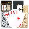 Copag Bridge Size 1546 Design Regular Index - Black & Gold