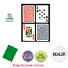 Copag Bridge Size PLASTIC Playing Cards & Dealer Kit