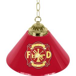 Fire Fighter 14 Inch Single Shade Bar Lamp