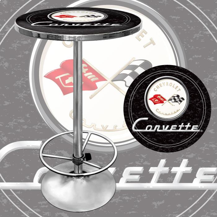Corvette C1 Pub Table - Black
