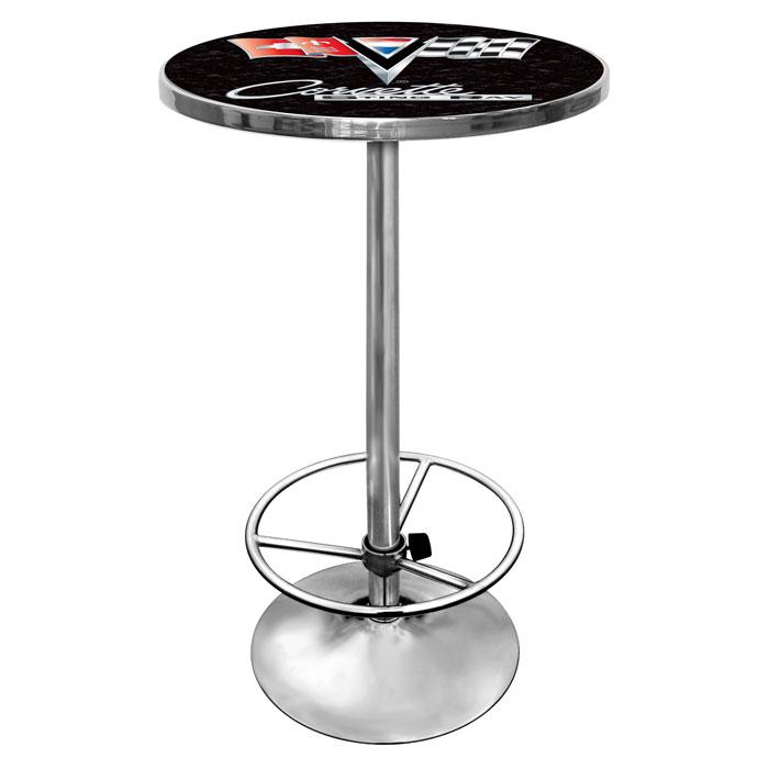 Corvette C2 Black Chrome Pub Table