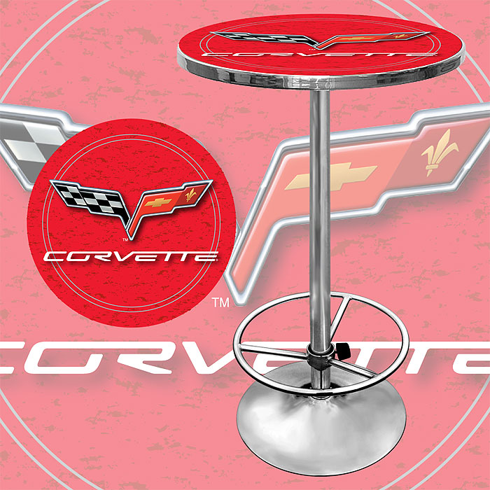 Corvette C6 Pub Table - Red