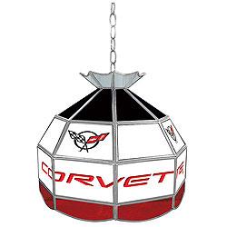 Corvette C5 Stained Glass Tiffany Lamp - 16 inch diameter