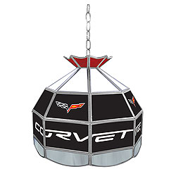 Corvette C6 Stained Glass Tiffany Lamp - 16 inch diameter
