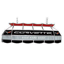 Personalized Corvette C6 Stained Glass 40 inch Light Fixture