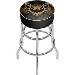 Pontiac Firebird Black Padded Swivel Bar Stool